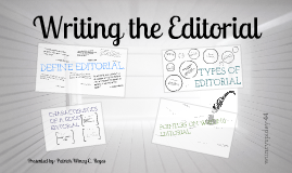 Copy of Campus Journalism: Writing the Editorial