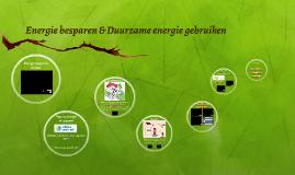 Energie besparen & duurzame energie gebruiken