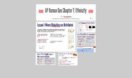 AP Human Geo Chapter 7: Ethnicity