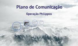 Plano de Comunicação - Operação Philippos