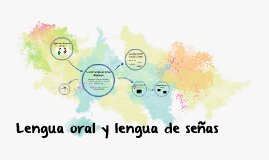 Lengua oral y lengua de señas