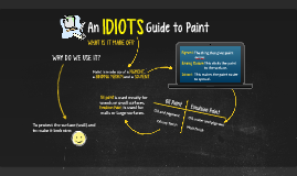 An IDIOTS Guide to Paint