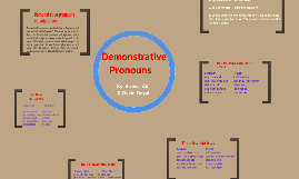 Copy of Demonstrative pronouns