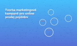 Tvorba marketingové kampaně pro online prodej pojištění