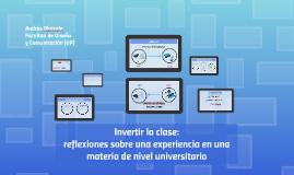 Invertir la clase: reflexiones sobre una experiencia en una materia de nivel universitario