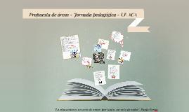 Propuesta de área - Jornada pedagógica - ACA