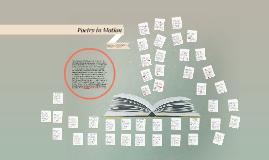 Poetry in Motion-Shakespearean Sonnets