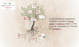 Comprobación da competencia lingüística (escrita)