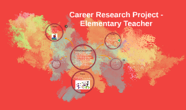 Career Research Project - Elementary Teacher