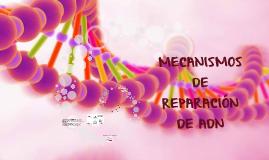MECANISMOS DE REPARACIÓN DE ADN