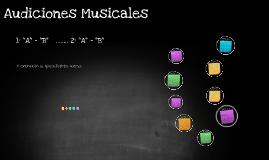 Audiciones Musicales 1ero y 2do Sec.
