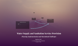 Water Supply and Sanitation Service Provision
