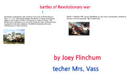 battles of the Revolutinary war