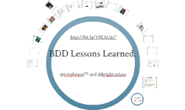 BDD Lessons Learned - Skillsmatter