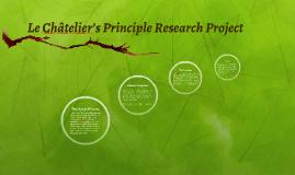 Le Châtelier's Principle Research Project