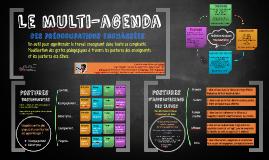 Le multi-agenda où le métier d'enseignant dans toute sa complexité