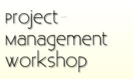 AtSCA Project Management Workshop
