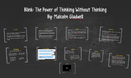 Copy of Blink: The Power of Thinking Without Thinking