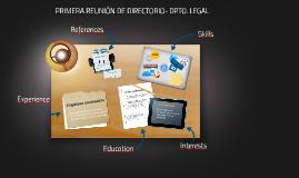 SEGUNDA REUNIÓN DE DIRECTORIO- DPTO. LEGAL