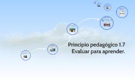 Copy of Principio pedagogico 1.7 Evaluar para aprender.