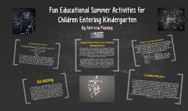 Fun Educational Summer Activities for Children Entering Kind