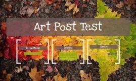 Art Post Test