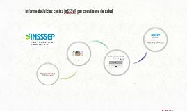 INFORME: Juicios contra InSSSep por cuestiones de salud