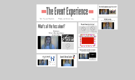 The Event Experience