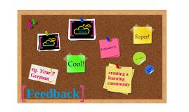 Feedback: creating a learning community