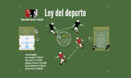 Copy of Ley del deporte