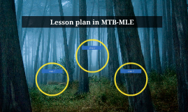 Lesson plan in MTB-MLE