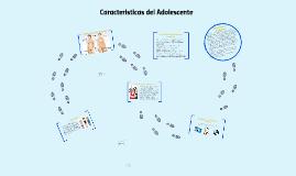 Copy of Caracteristicas del Adolescente