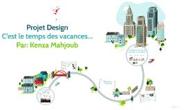 Projet Design C'est le temps des vacances...