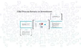 3 Bid Process Return on Investment