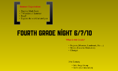 4th Grade Night
