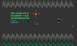 INFLACION EN EL ECUADOR Y SUS DETERMINANTES