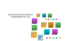 Copy of INSTANCIAS INSTITUCIONALES Y SU MEDICIÓN EN EL AULA.