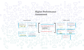 Higher Performance Assessment - Preparation and Evaluation