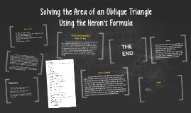 Solving the Area of an Oblique Triangle