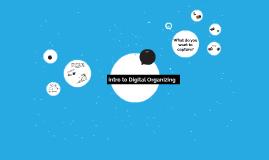 Intro to Digital Organizing
