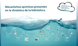 Mecanismos químicos presentes en la dinámica de la hidrosfer