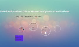 United Nations Good Offices Mission in Afghanistan and Pakis
