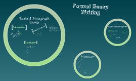 Formal Essay Writing