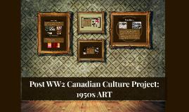 Post ww2 culture project