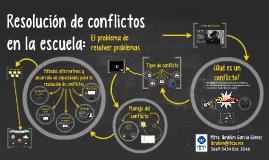 Resolución de conflictos en la escuela
