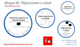 Bloque II. Migraciones y salud