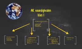 AK vaardigheden klas 1