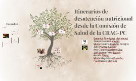 Itinerarios de desatención nutricional desde la Comisión de
