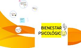 BIENESTAR PSICOLOGICO.