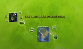 LAS LLANURAS DE AMÉRICA